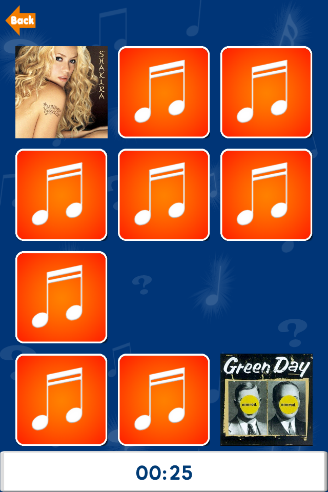 Screenshot Memory – Match My Music (use your iTunes library)