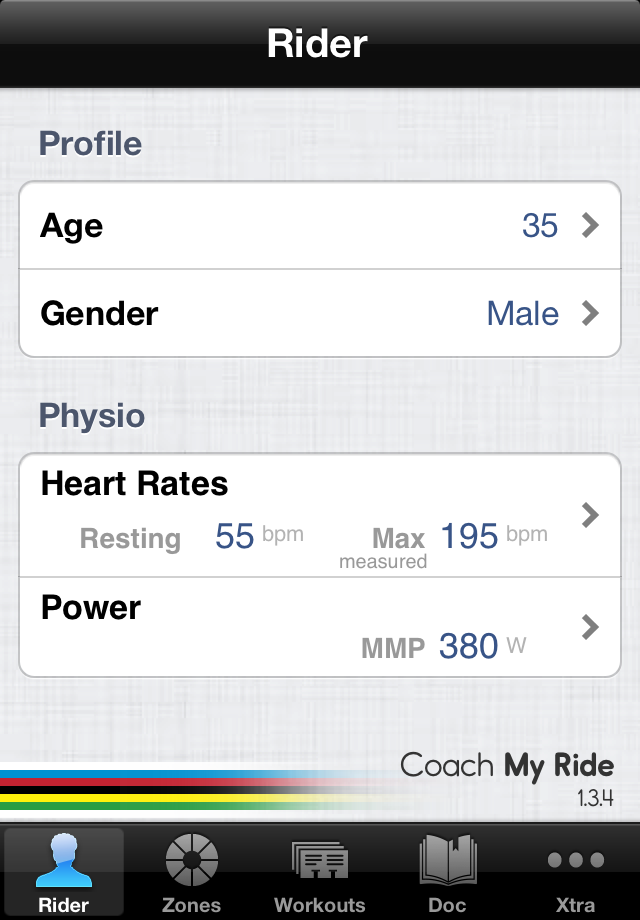 CoachMyRide : cycling training