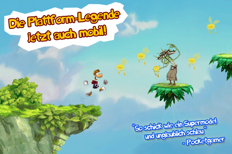 Rayman Jungle Run iPhone, iPad Screenshot